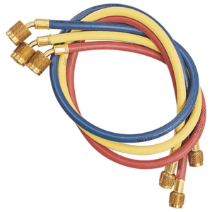 Yellow Jacket 22985 3-Pak (RYB) 60″ PLUS II Hoses with SealRight Fittings