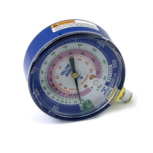 Yellow Jacket 49138 3-1/8″ Blue Compound 30″ 0-350 psi R-22/404A/410A Gauge