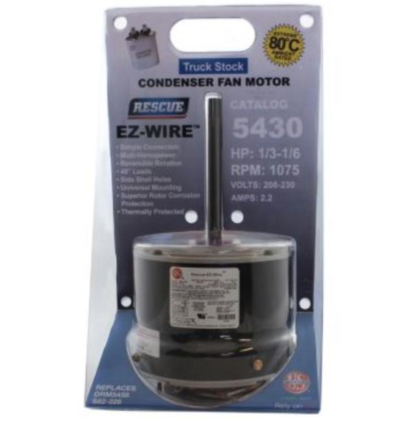 Rescue® EZ-Wire™ PSC Condenser Fan Motor 1/3-1/6 w/ Capacitor 1075 RMP (208/230v)