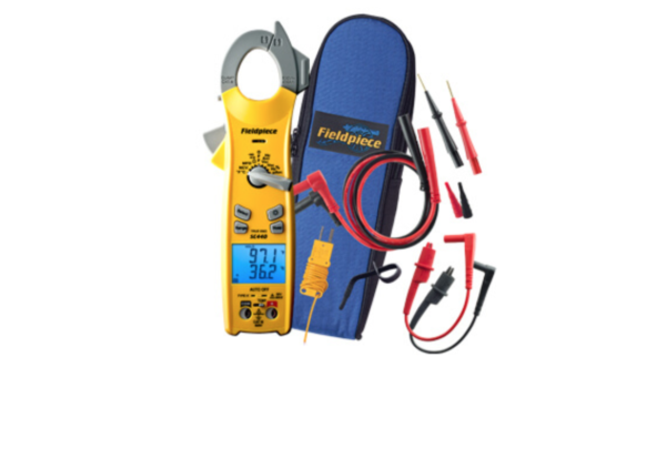 FIELDPIECE SC440 ESSENTIAL CLAMP METER with True RMS and Magnetic Strap