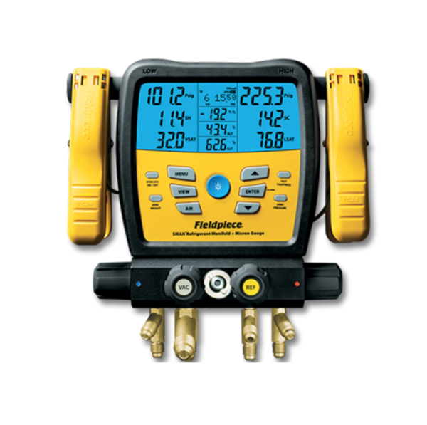 Fieldpiece SM480V Wireless 4-Port Digital Manifold with Micron Gauge