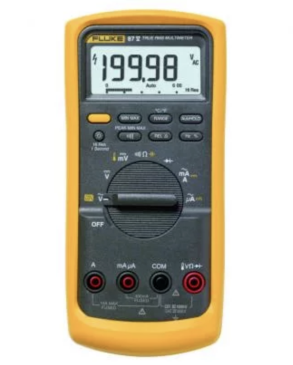 FLUKE 87V True RMS Industrial Digital Multimeter with Temperature Measurements