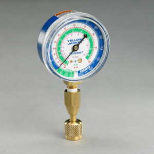 "Yellow Jacket 40345 Blue Single Test Pressure Gauge with 12"" hose"