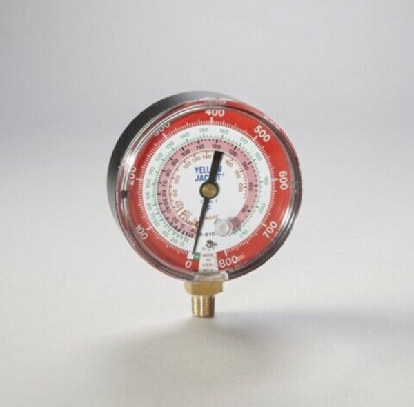Yellow Jacket 49133 Heat Pump 3 1/8 High Side Replacement Gauge, R-22/407C/410A