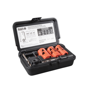 Klein Tools 32905 Electrician's Hole Saw Kit With Arbor 3-Piece