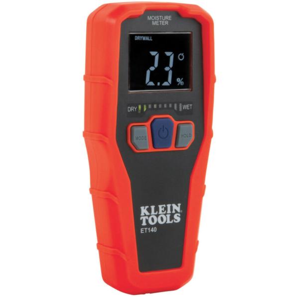 Klein Tools ET140 Pinless Moisture Meter For Non-Destructive Detection