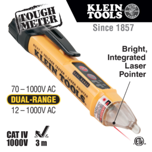 Klein Tools NCVT-5 Dual Range Non-Contact Voltage Tester with Laser Pointer