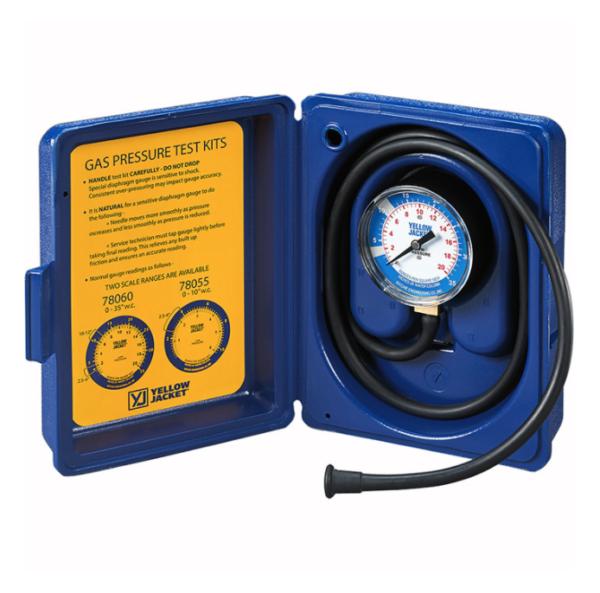 "Yellow Jacket 78060 Gas Pressure Test Kit, 0-35"" W.C."