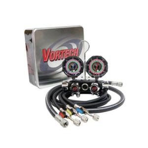 CPS BlackMax® MV4H4P5EZ Vortech  4 Valve Manifold, with 5' Premium Ball Valve Hose Set and 3/8 VAC Set