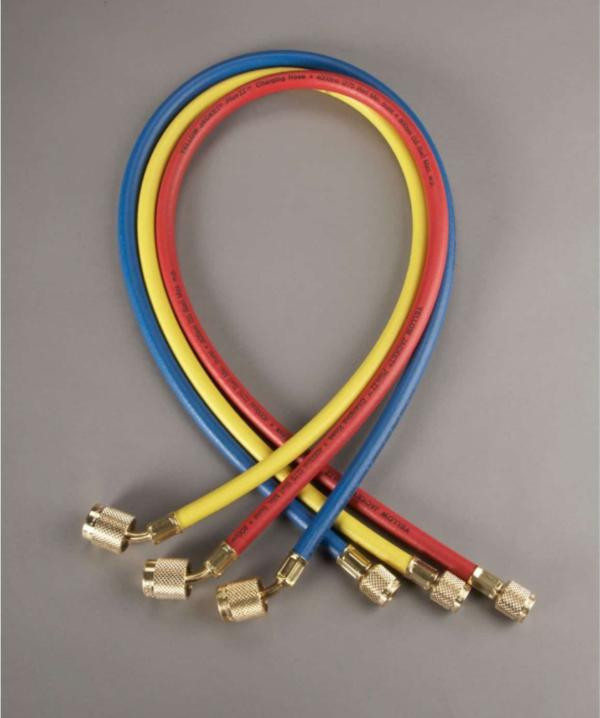 Yellow Jacket 22986 3-PAK (RYB) 72″ Plus II Hoses with Sealright Fittings
