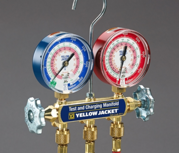 Yellow Jacket 42201 Series 41 Manifold, with 60″ Compact Ball Valve Hoses