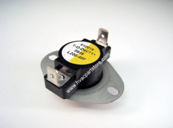 Supco L200-40. L200 Heater Limit Thermostat Thermodisc Open On Rise