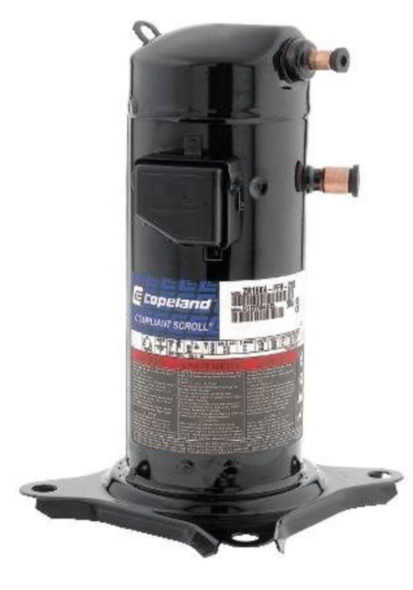 Copeland Scroll Compressor, 208V/230V, 1-Phase, 34,400 Btu R22 Refrigerant