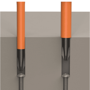Klein Tools 32286 2-in-1 Insulated Screwdriver Flip-Blade ScrewDriver Phillips and 3/16 Slot
