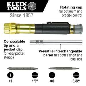 Klein Tools 32614 Electronics Pocket Screwdriver 4-in-1