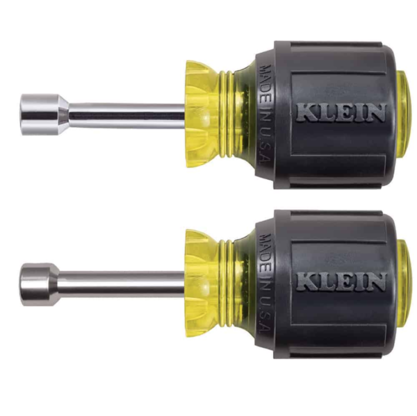 "Klein Tools 610M 1-1/2"" Magnetic Stubby Nut Driver, Set of 2 (1/4"" & 5/16"")"