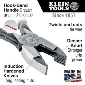 Klein Tools D201-7CSTA Ironworker's Pliers w/Aggressive Knurl