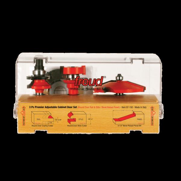 Freud 97-150 3 Piece Premier Adjustable Cabinet Bit Set