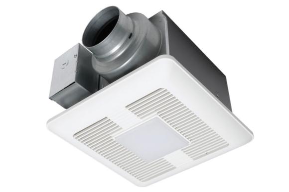 Panasonic FV-0511VQ1 WhisperCeiling® DC™ Fan|Light, 50-80-110 CFM